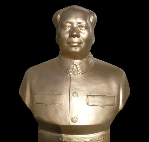 Chairman Mao's half-length bronze statue